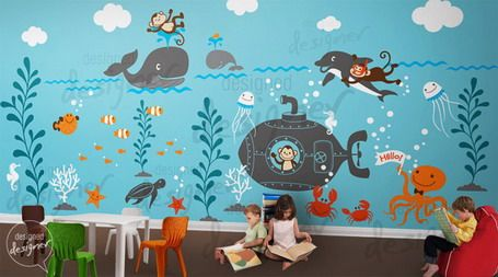kids bedroom sticker wall murals Imaginative Under Sea Wall Murals Design Ideas in Kids Bedroom Beautiful Wall Murals Ideas in