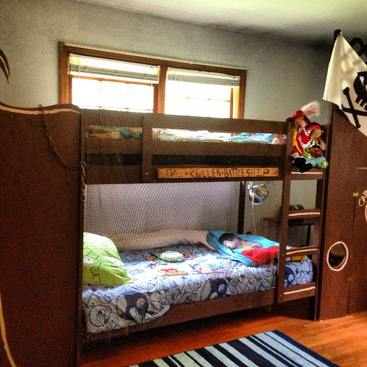 Diy Pirate Ship Bunk Bed For The Kiddos Pinterest