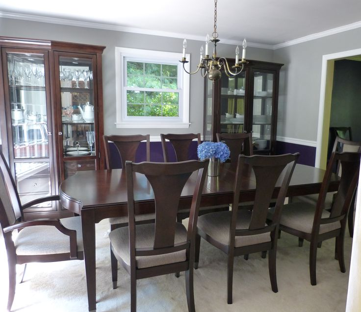 I Love My New Royal Purple And Gray Dining Room Behr