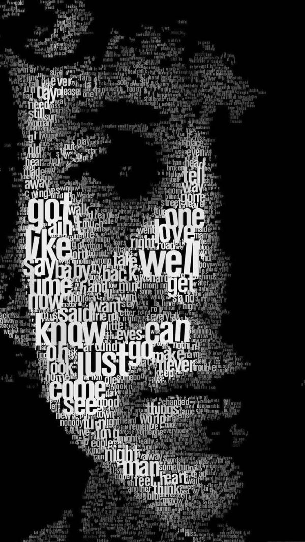 17 Best images about Faces Made of Words ... on Pinterest ...