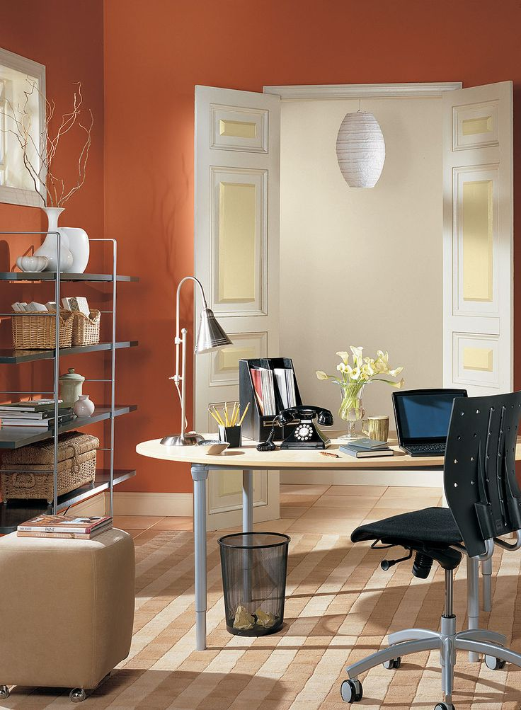 46 best home offices images on pinterest benjamin moore on office accent wall color id=56986