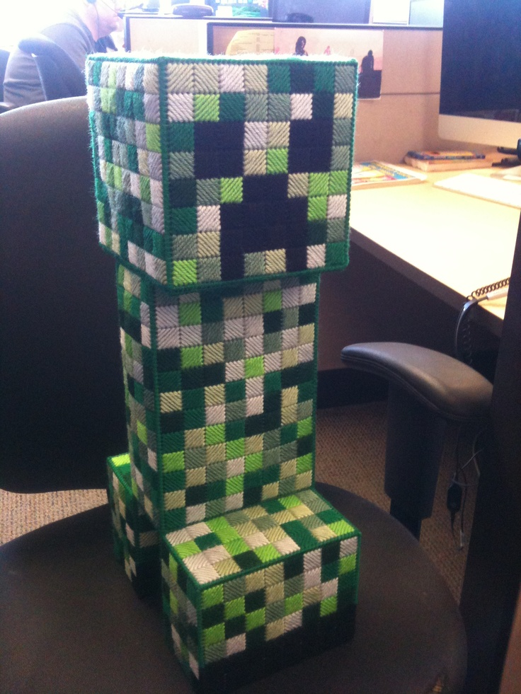 Minecraft Creeper Bank Made For Andy My Pattern