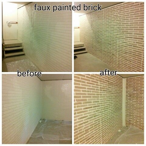 faux painted bricks on basement wall stamped brick molded on paint for basement walls id=99783