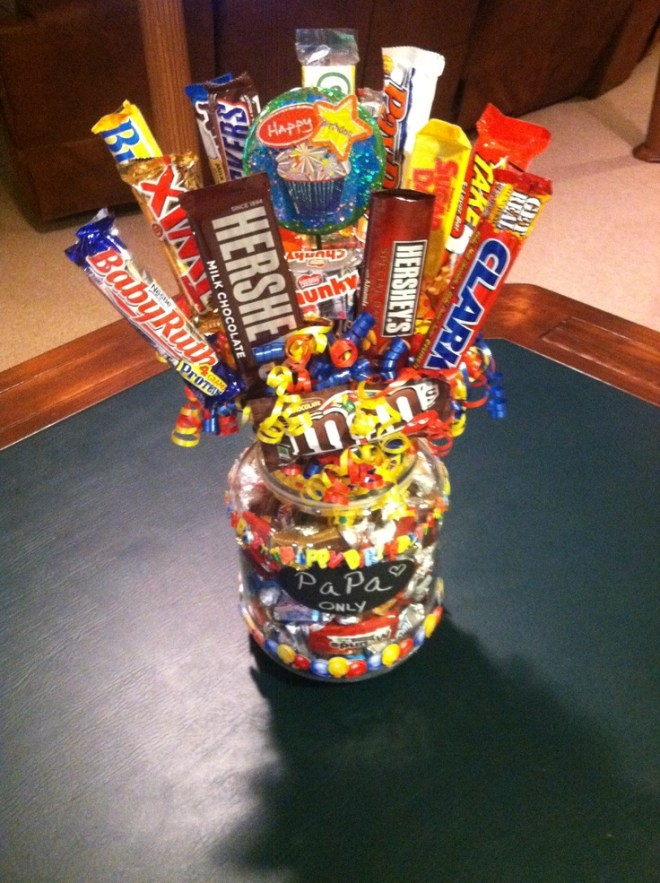 Birthday candy bouquet diy gift party ideas