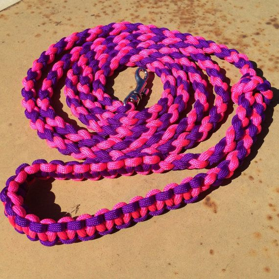 Paracord Round Braid 6 Foot Dog Leash With By
