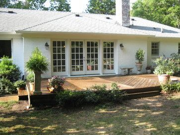 ranch house deck ideas | french doors + deck (ranch style ... on Back Deck Ideas For Ranch Style Homes  id=95048