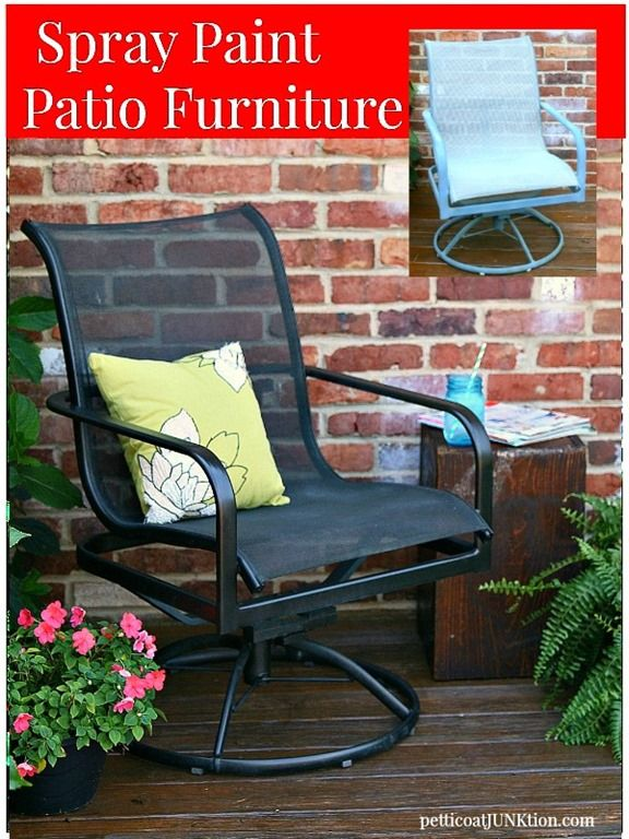 Spray Paint Wooden Patio Furniture  Home Painting