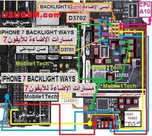 iPhone 7 LCD Display Light IC Solution Jumper Problem Ways