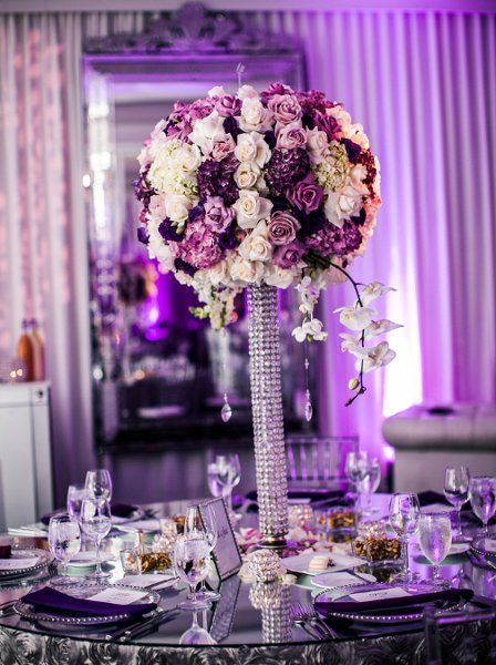 25 Best Ideas About Purple Wedding Centerpieces On