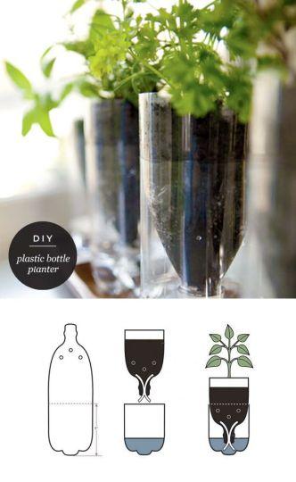 Maiko Nagao - diy, craft, fashion + design blog: DIY: Upcycled plastic bottle herb planter