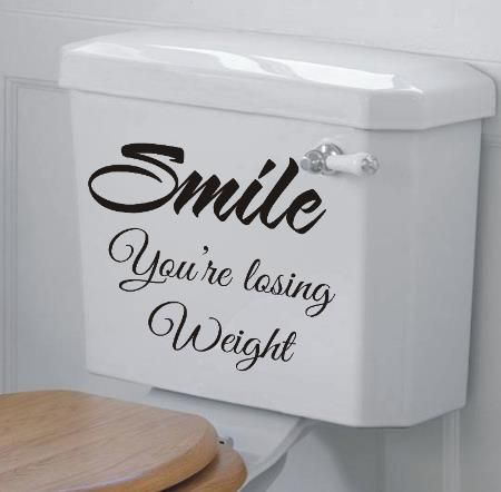 Funny Bathroom Toilet Typography Art Decor Printable Digital