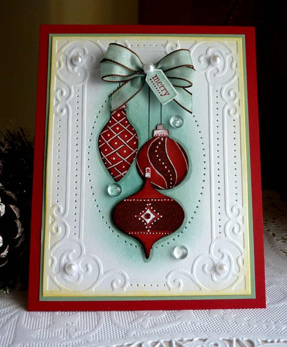 Stampin Up Handmade Merry Card NEW Christmas Cards