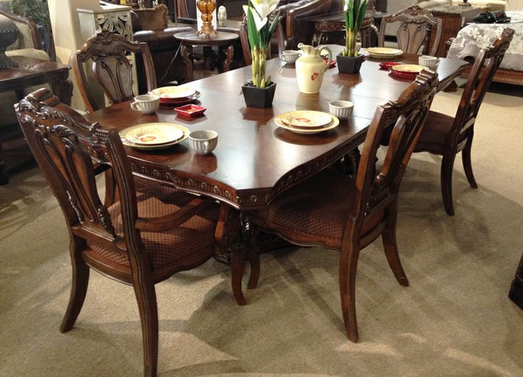 Ledelle Dining Table With The Rich Old World Beauty Of