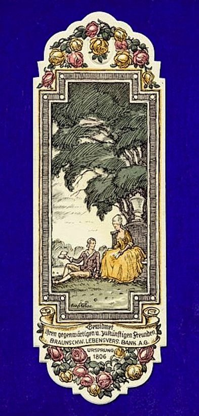 Vintage Bookmark Braunschweiger Lebensversicherung