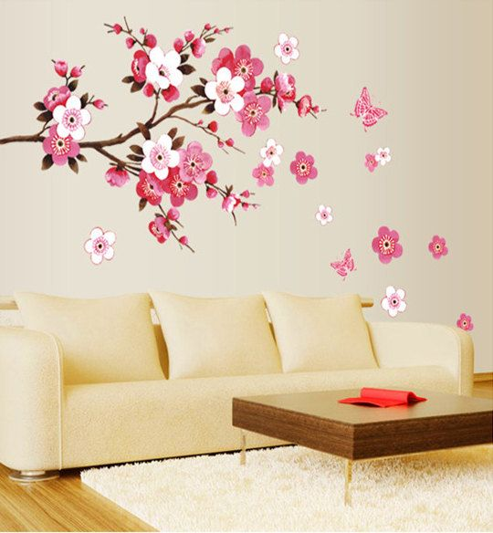 cherry blossom decal cherry blossom wall decal tree branch on wall stickers for home id=31665