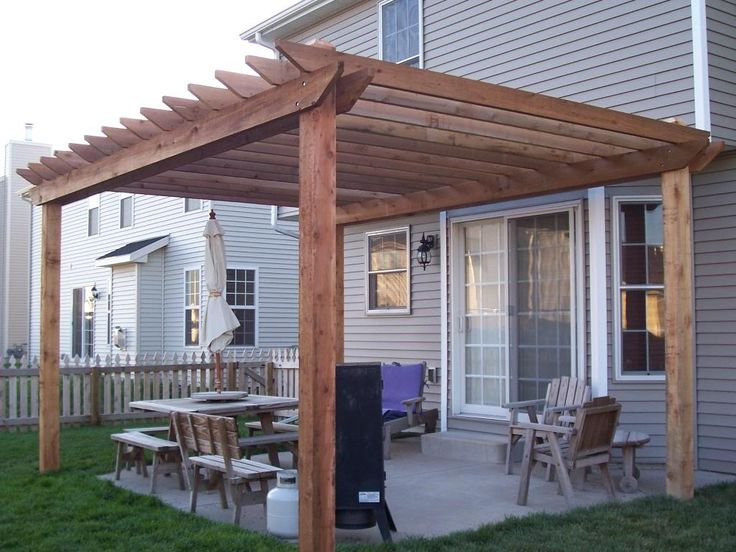 Simple Pergola Designs - WoodWorking Projects & Plans on Basic Patio Ideas id=52584