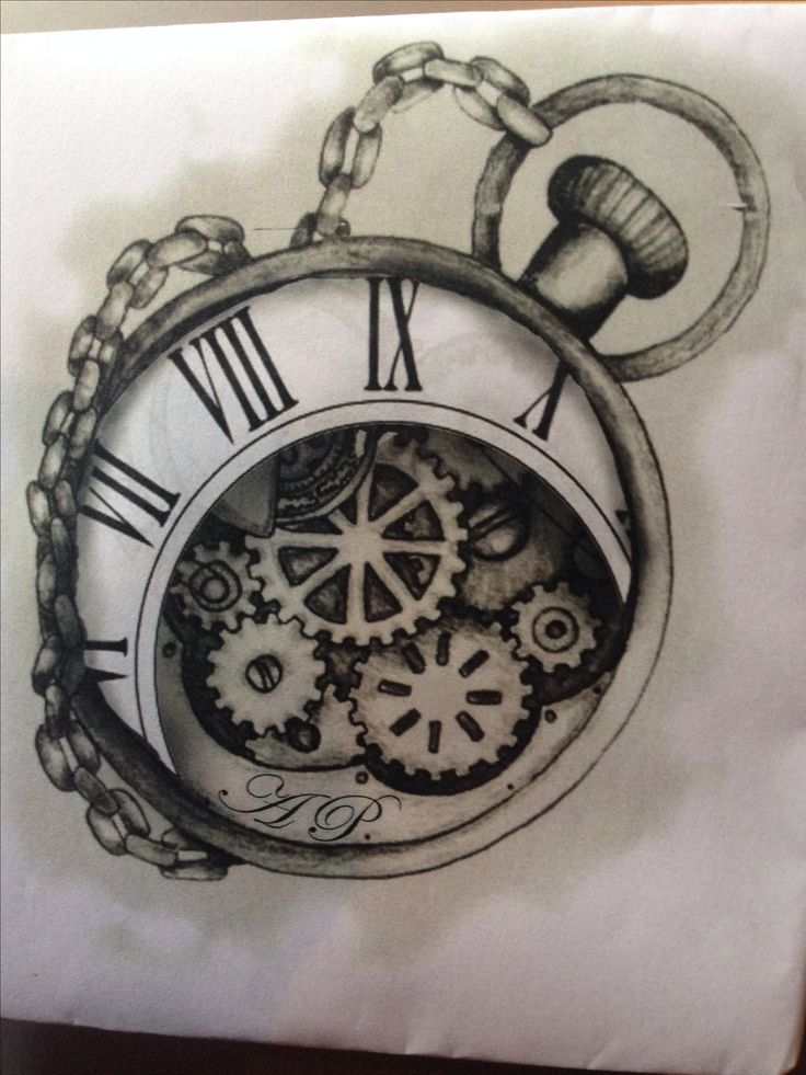 Timepiece Tattoo Design On My Inner Arm Tattoo Timepiece