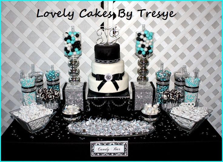 10th Diamond Anniversary CandyDessert Tables
