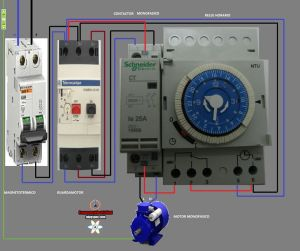 Electrical diagrams: CONTACTOR AND WATCH HOURS | Esquemas