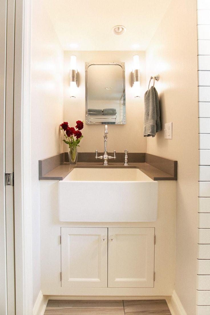 Small Bathroom Oak Vanity Sink 1920s Farmhouse Google