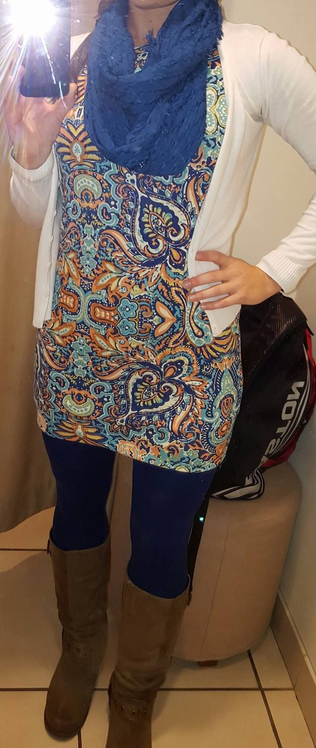 paisley Julia over leggings