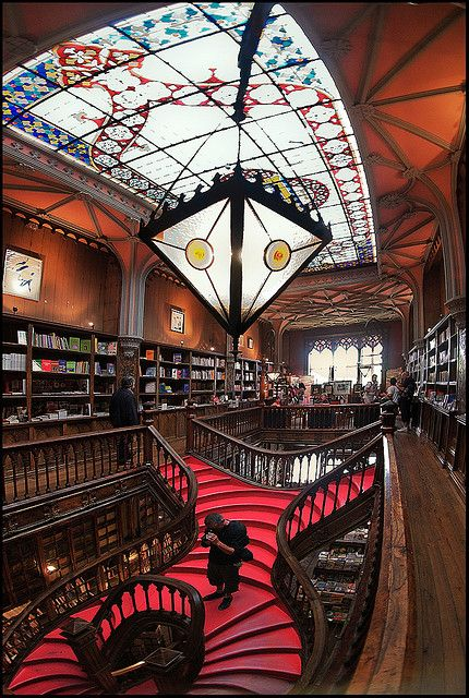 Lello Bookshop, considered one of the most beautiful in the World. Located in Porto, Portugal…just 300 km from Lisbon!