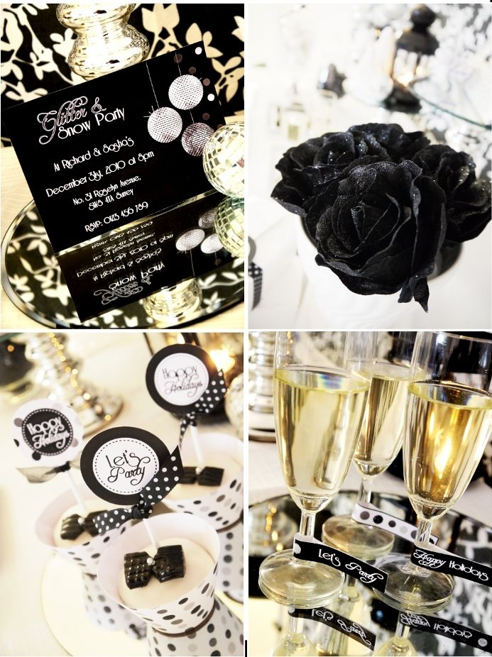gold white party new year themes