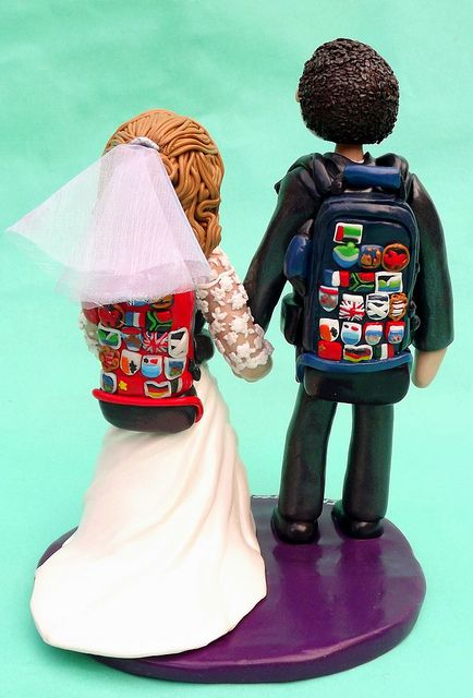 Traveling Backpacking Wedding Cake Topper by Ama Aqua Cake Toppers – Weddings, birthdays, Chris, via Flickr