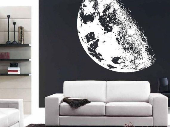 Full Moon Realistic Extra Large Wall Mural By