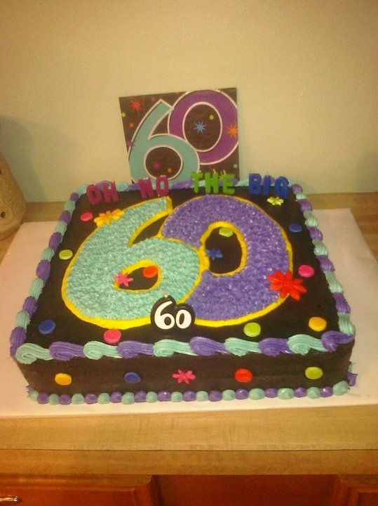 Over The Hill Cake Ideas For Men 60 60th Birthday Cake