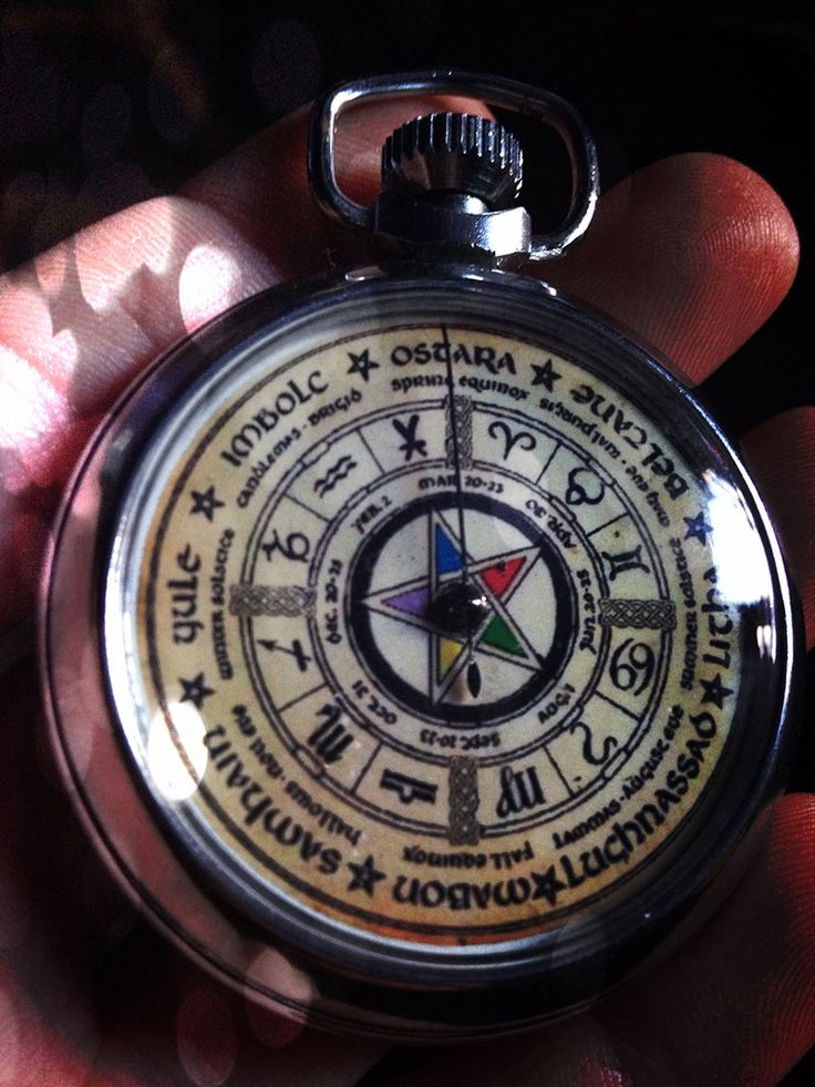 Vintage Occult Ouija Board Pocket Watch