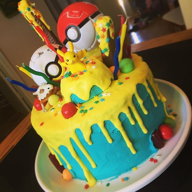 My Take On Two Current Trends Pok 233 Mon Drip Cake For A