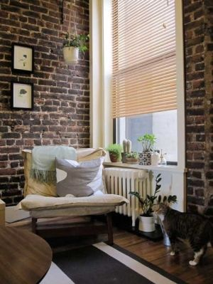 32 best images about window treatments for brick wall on on brick wall id=81287