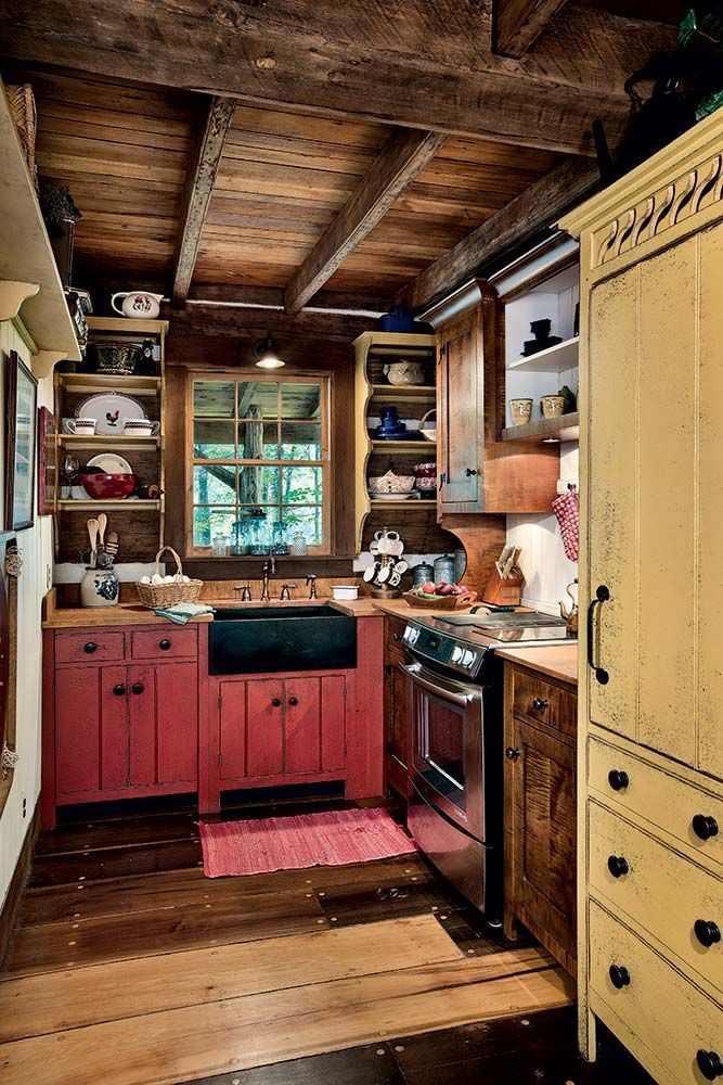17 Best Ideas About Rustic Cabin Kitchens On Pinterest Cabin Kitchens Cabin Interiors And Log