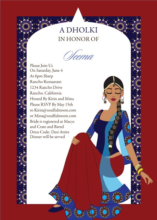 Arch Diva Indian Bridal Shower Invitations By Soulfulmoon Indian Bridal Shower Invites