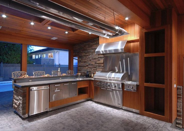 ExteriorOutdoor Backyard Kitchen Design Granite