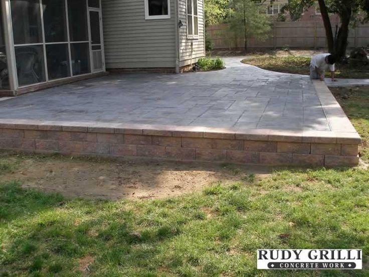 17 best images about Backyard/Deck ideas on Pinterest ... on Raised Concrete Patio Ideas id=65412