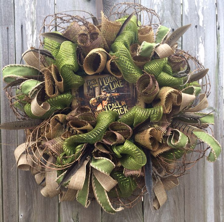 1000 Images About Hunting Wreath On Pinterest Deco Mesh