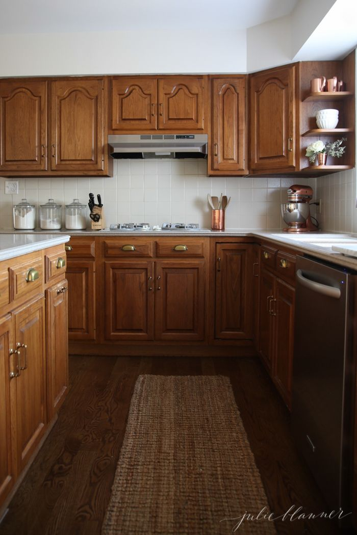 A Simple Kitchen Makeover Without Paint Copper Wood