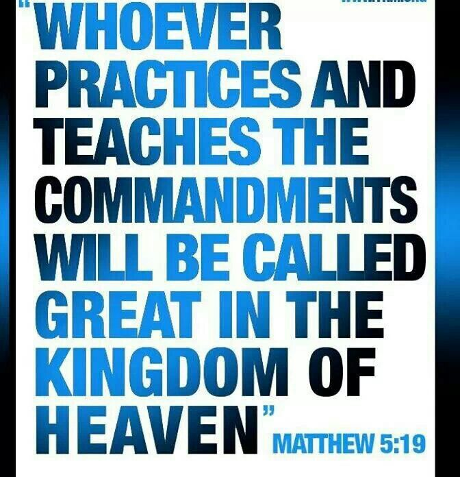 Image result for Matthew 5:19
