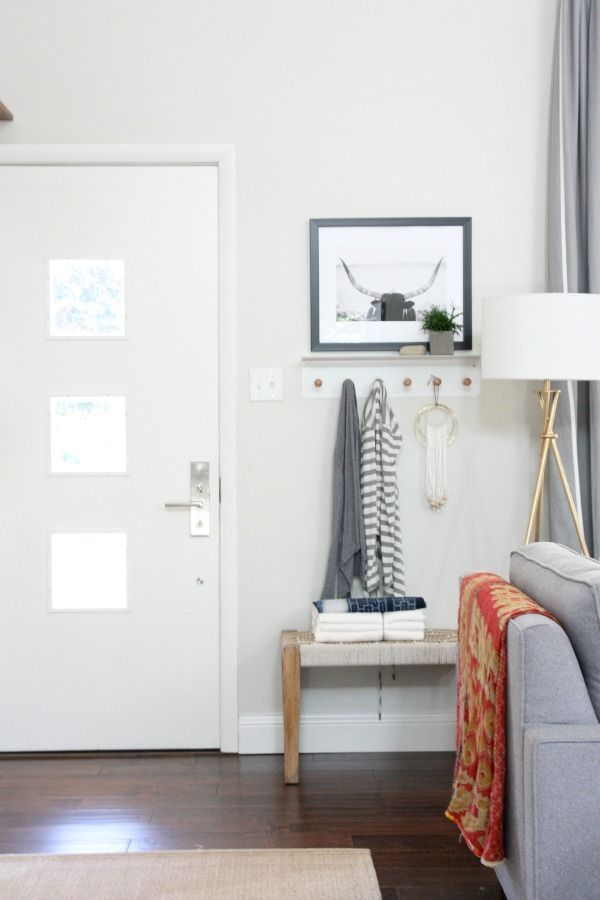 How To Decorate When Your Front Door Opens Into Your