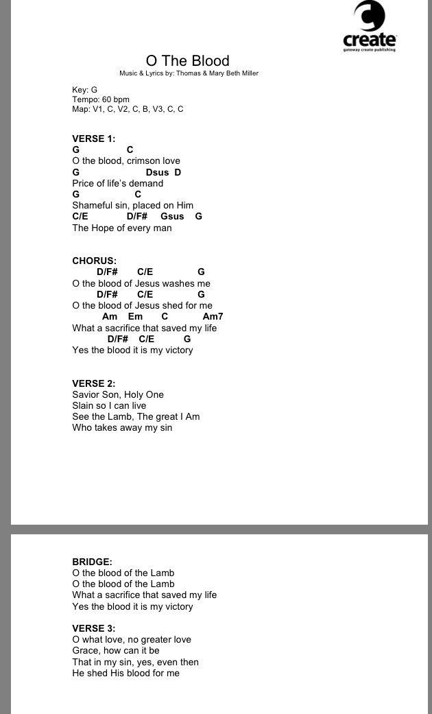Hillsong Cornerstone Chord Chart