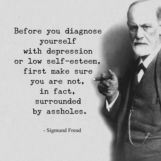 Sigmund Freud – Before you diagnose yourself with depression or low self-esteem, 1