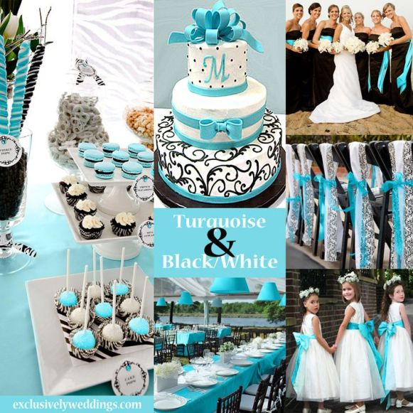 Black-White-and-Turquois