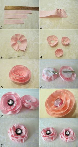 DIY Hair Accessories DIY Hair Clips DIY: Make 2 in 1 Fabric Ribbon Flower Hair Clip DIY Barrettes