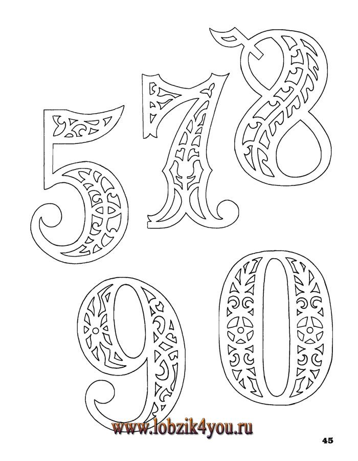 Scroll Saw Letter Stencils Printable