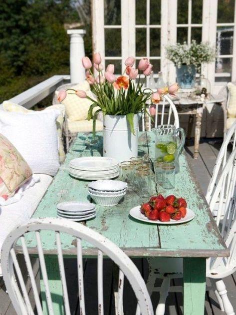 Ideas porche trasero ... Patio elegante lamentable Cottage Diseño decorativo, Películas, remodelación, decoración e ideas - aman elegancia lamentable !: