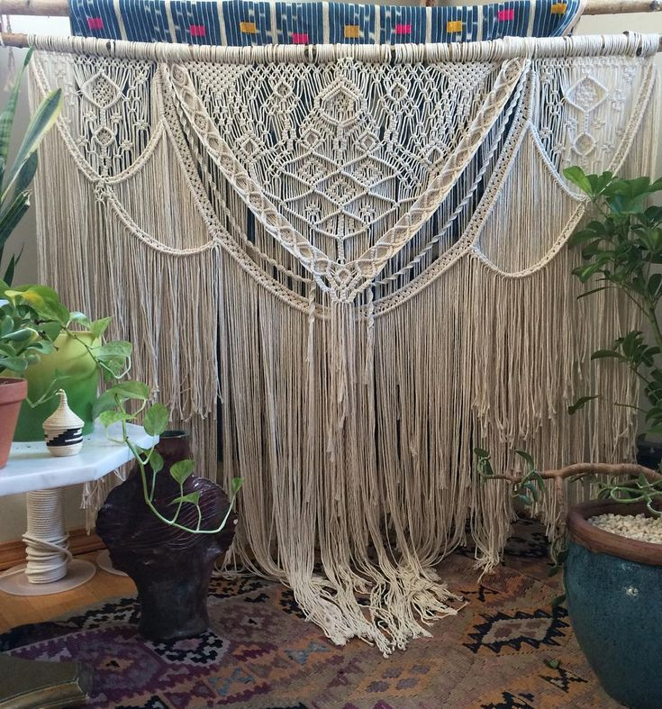 801 best micro macrame wall art images on pinterest on macrame wall hanging id=44479