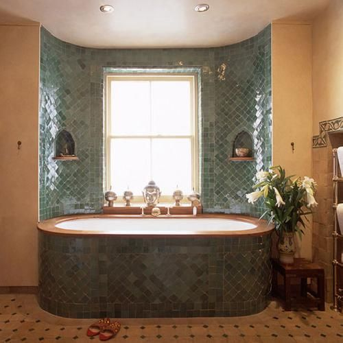You Could Inset A Bath Like This Into The Straw Bales Of A Strawbale House Could Look