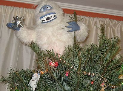 Turn Bumble from Rudolph the Red-Nosed Reindeer into a Christmas guardian. | 15 Tree Toppers You Didn't Know You Needed This